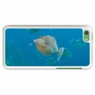 Customize Apple 5C Animal Unicorn Fish Of Girlfriend Present White Case Cover For Everyone Cell Phones & Accessories
