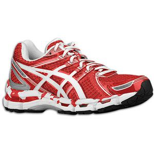 ASICS� Gel   Kayano 19   Womens   Running   Shoes   Hot Red/White/Silver
