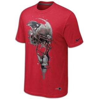 Nike NFL Tri Blend Helmet T Shirt   Mens   Football   Clothing   New England Patriots   University Red
