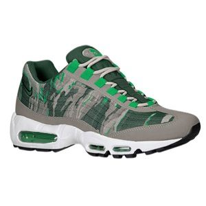 Nike Air Max 95 Premium Tape   Mens   Running   Shoes   White/Lab Green/Geyser Grey