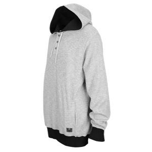 Nike Waffle Henley Pullover Hoodie   Mens   Casual   Clothing   Dk Grey Heather/Black