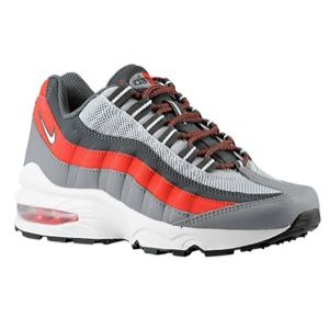 Nike Air Max 95    Boys Grade School   Running   Shoes   Wolf Grey/Cool Grey/University Red/White
