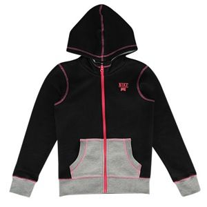 Nike SB Colorblock Full Zip Hoodie   Girls Grade School   Casual   Clothing   Black