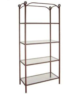 Shop The Grace Collection FIX 36 36 Display with Glass Shelves, Black, Bronze, Copper, Gun Metal, Iron, Ivory, Stone, Teal at the  Home D�cor Store