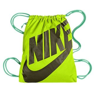 Nike Heritage Gymsack   Casual   Accessories   Volt/Green Glow/Dark Loden