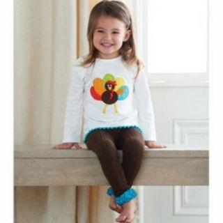 Girl's Thankgiving Outfits Mud Pie Turkey Applique Baby Girl's Legging Set Jewelry