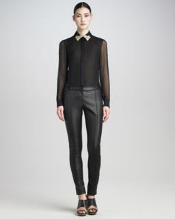 Womens Leather Pants   Jason Wu   Black (12)