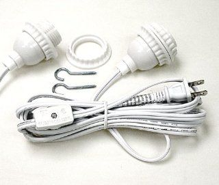 Paper Lantern 12 Foot Long Lamp Cord Has Socket With Mounting Ring   Light Socket With Cord