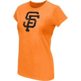 G III Womens San Francisco Giants Logo Short Sleeve T Shirt   Size Medium,