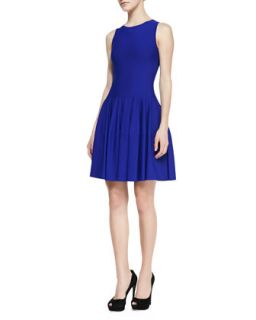 Womens Sleeveless Dropped Waist Dress, Royal Blue   Alexander McQueen   Royal