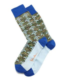 Tribal Camo Mens Socks, Green   Arthur George by Robert Kardashian   Green