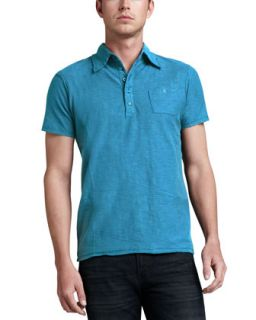 Mens Tev Slub Jersey Polo, Blue   Diesel   Blue (MEDIUM)