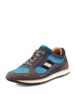 Mens Oklahoma Low Top Sneaker, Bright Blue   Bally   Blue (10.5D)
