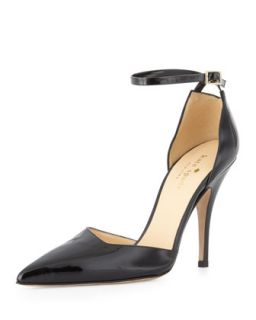 lilliana patent point toe pump, black   kate spade new york   Black (36.0B/6.0B)