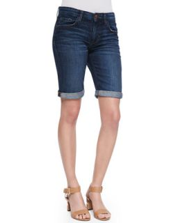 Womens Zendaya Easy Fit Bermuda Shorts, Dark Blue   Joes Jeans   Dark