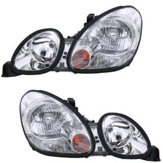 1998 2005 Lexus GS300 GS400 & 2001 2005 GS430 (USA Built Vehicles) Headlight Headlamp Composite Halogen (Non HID without Xenon) Front Head Light Lamp Set Pair Left Driver And Right Passenger Side (98 1998 99 1999 00 2000 01 2001 02 2002 03 2003 04 2004