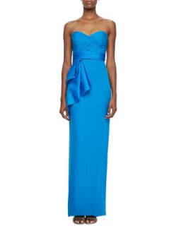 Womens Strapless Bow Waist Column Gown   Notte by Marchesa   Blue (6)