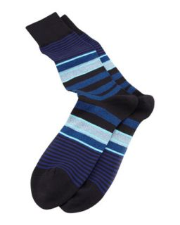 Twisted Stripe Mens Socks, Navy   Paul Smith   Navy