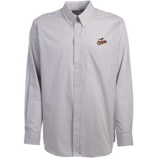 Antigua Baltimore Orioles Mens Monarch Long Sleeve Dress Shirt   Size Large,