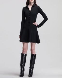 Womens Wardour Drop Waist Dress with Removable Leather Collar   Belstaff