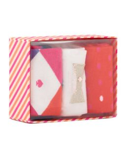 Womens holiday sock box set   kate spade new york   Multi colors (ONE SIZE)