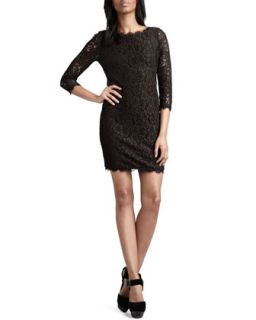 Womens Zarita Lace Dress   Diane von Furstenberg   Black (12)