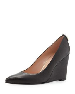 Logopower Point Toe Wedge Pump, Black   Stuart Weitzman   Black (36.5B/6.5B)
