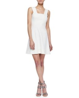 Womens Dixie Fit And Flare Mini Dress, Ivory   Amanda Uprichard   Ivory