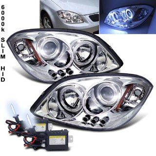 6000k Slim Xenon HID Kit+2005 2010 Chevy Cobalt Halo LED Projector Head Lights Automotive