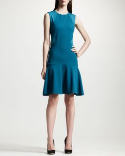 Womens Paneled Dropped Waist Dress   Stella McCartney   Feather blue (36/2)