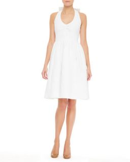 Womens hampton halter dress with bow, fresh white   kate spade new york