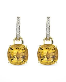 Eternal 18k Gold Citrine Diamond Earrings   Kiki McDonough   Gold (18k )
