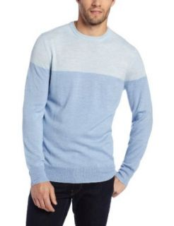 Calvin Klein Sportswear Men's Color Blocked Crew Sweater at  Men�s Clothing store