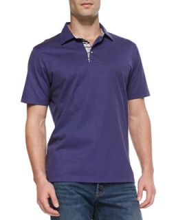 Mens Tino Pique Polo Shirt, Purple   Robert Graham   Navy (purple) (XX LARGE)