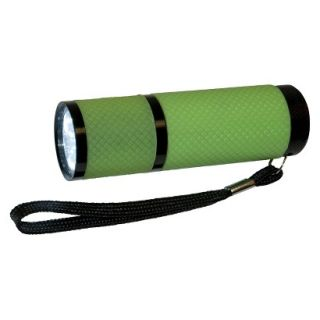 Greatlite Mini 9 LED Glow In The Dark Flashlight   Green