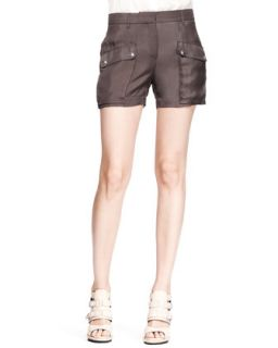 Womens Neston Twill Pocket Shorts   Belstaff   Coal (42/6)