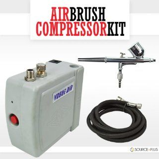 Airbrush Kit Compressor Air Brush Decorating Nail Hobby
