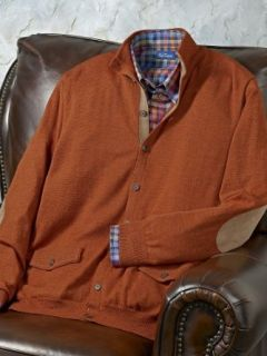 Paul Fredrick Men's Wool Blend Mock Collar Cardigan Sweater Rust 4xl Tall at  Men�s Clothing store