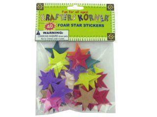 Case of 48 Foam star stickers   Additional Information assorted colors, Colors green, blue, red, purple, orange, pink, Materials adhesive, foam   Home Office Furniture