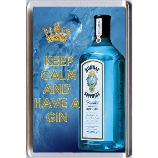 KEEP CALM AND HAVE A GIN FRIDGE MAGNET  Key Tags And Chains