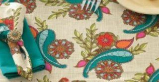 Peacock Paisley Print Placemats Set of 4 By Split P   Place Mats