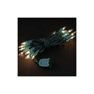 Novelty Lights, Inc. CG20 G CL Commercial Grade Christmas Mini Light Set, Green Wire, Clear, Connectable (Male and Female Plug), 20 Light   String Lights