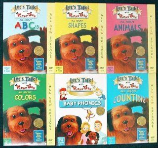 Set of 6 DVDs   Lets Talk with Puppy Dog   ABCs   Counting   Shapes   Colors   Animals Movies & TV