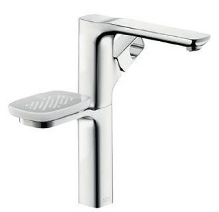 Hansgrohe 11034001 Chrome Axor Urquiola Axor Urquiola Bathroom Faucet Tall with Metal Knob Handle and Soap Dish Less Pop Up Drain 11034   Touch On Bathroom Sink Faucets