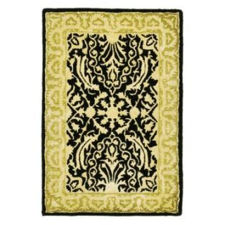 Safavieh Silk Road SKR213B Area Rug   Black/Ivory   Area Rugs