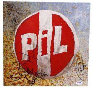 PIL Public Image Ltd Band JOHNNY ROTTEN +3 Signed Autographed Album LP PSA/DNA Entertainment Collectibles