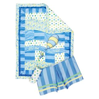 Trend Lab 3 Piece Crib Bedding Set   Dr. Seuss Blue Oh, the Places You'll Go   Baby Bedding Sets