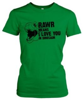 Women's Rawr Means I Love You in Dinosaur T Shirt   Funny Tee for Dino Fans