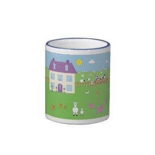 Cute Cartoon Farm & Animals Mug