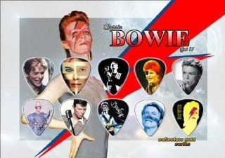 David Bowie Premium Celluloid Guitar Picks Display Classic Edition Musical Instruments
